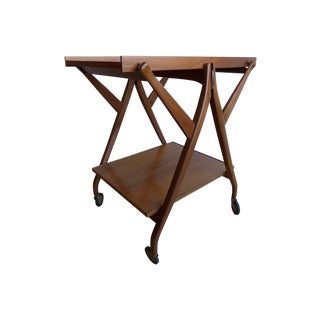 Vintage Stewart and MacDougall Walnut Tea Bar Cart
