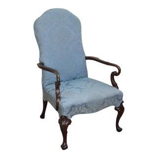 Georgian Style Custom Mahogany Library Arm Chair