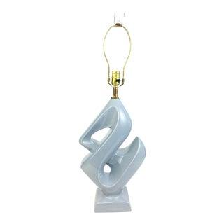 Mid Century Ampersand Ceramic & Lucite Table Lamp