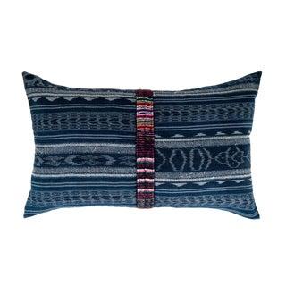 Vintage Guatemalan Indigo Ikat Pillow