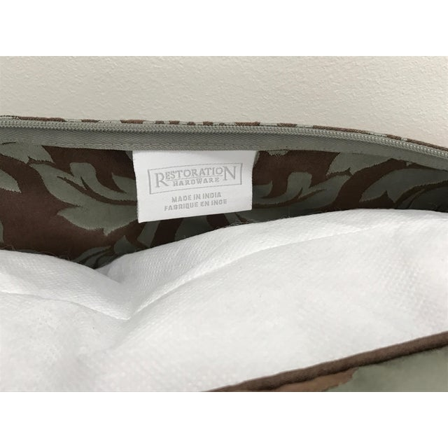 Image of Restoration Hardware Cotton Silk Damask Pillow Cover