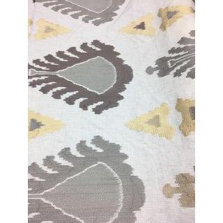 Lee Jofa Embroidered Ikat Fabric - 6 2/3 Yards