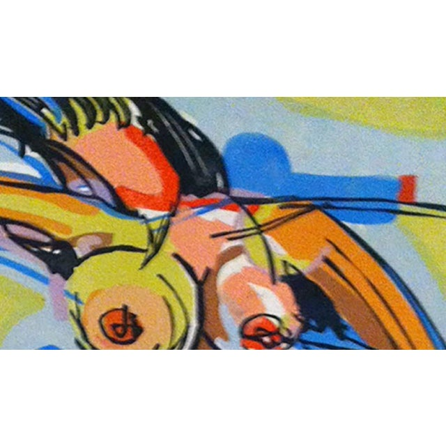 """Clay Walker Painting, """"Girl Jumping"""" - Image 2 of 3"""