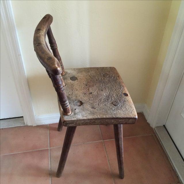 Handmade Pegged Chair - Image 3 of 5