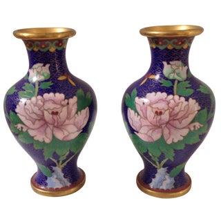Cloisonné Vases - A Pair