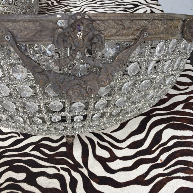 Bow and Garland Floral Crystal Flush Mount - Image 5 of 6