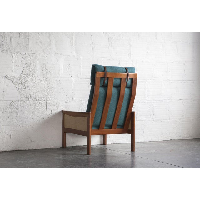 Danish High Back Lounge Chair & Ottoman - Image 6 of 10