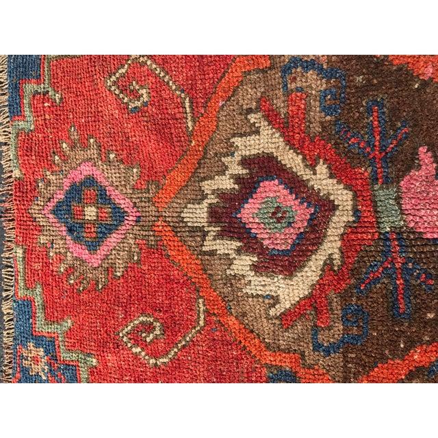 """Antique Turkish Oushak Square Rug - 5'6"""" x 5'7"""" - Image 9 of 11"""