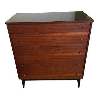 Mid-Century Walnut Five Drawer Dresser