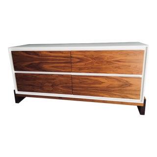 Lawson-Fenning Walnut & White Lacquer Platform Dresser