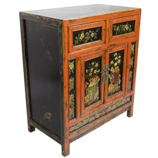 Small Mongolian Painted Cabinet