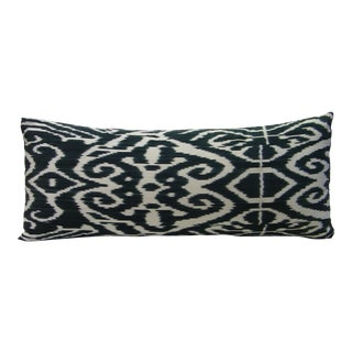 Black Luce Ikat Pillow