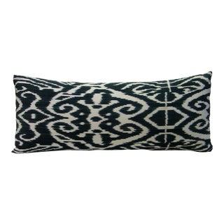 Black Luce Ikat Pillow