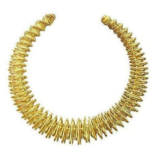Wire Work Goldtone Collar