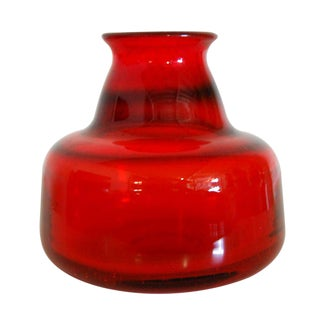 Erik Hoglund Vintage Swedish Red Art Glass Vase II