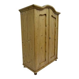 Pine Two-Door Bonnet Top Armoire