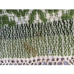 Image of Vintage Handwoven Green Textile