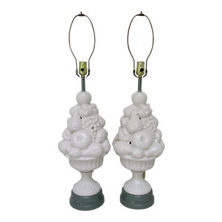 Ceramic Topiary Lamps - a Pair