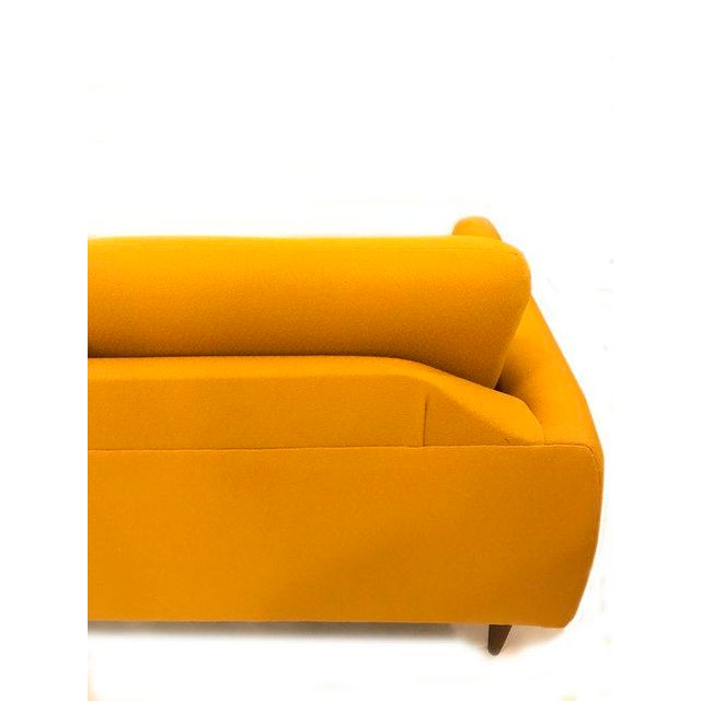 Yellow Mid-Century Modern Couch - Image 6 of 8