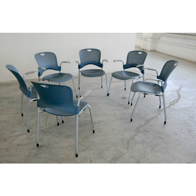 Herman Miller Caper Stacking Office Chairs - S/6 - Image 2 of 7