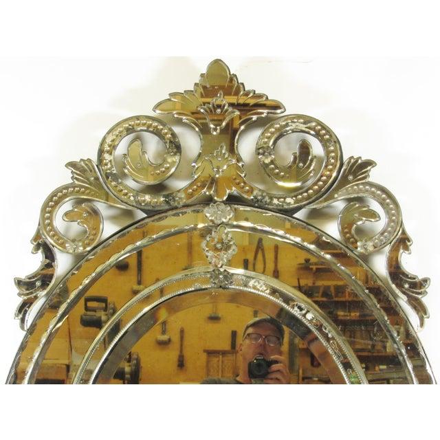 Venetian Cut Glass Wall Mirror - Image 3 of 8