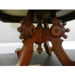 Image of Victorian Mahogany & White Marble Top Coffee Table