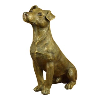 Jack Russell Terrier Dog Bronze Sculpture
