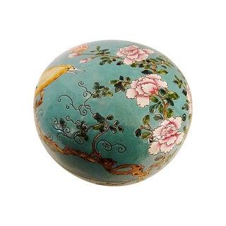 Famille Rose Turquoise Porcelain Box