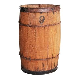 Vintage Rustic Weathered Wood Nail Keg