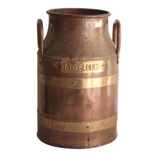 Brass Strapped Copper Bin