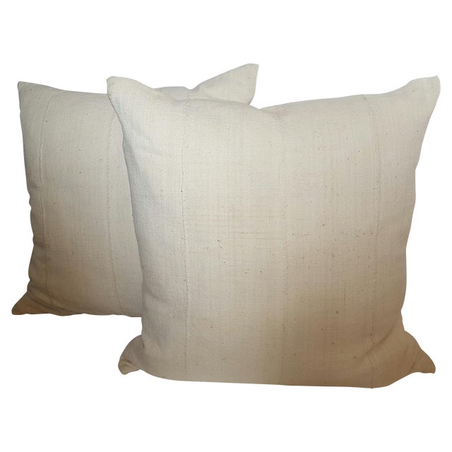 Image of African Mud Cloth Pillows - Pair