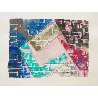 "Martha Holden ""Bricks"" Mono Print"