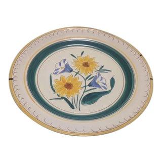 Stangl Garden Flower Chop Plate & Wire Plate Hanger
