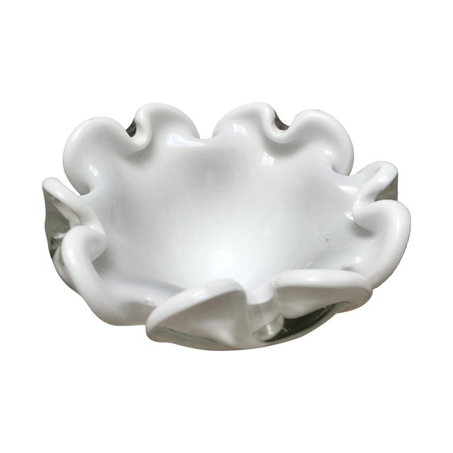 Image of Murano Glass Bowl Italian Low Dish