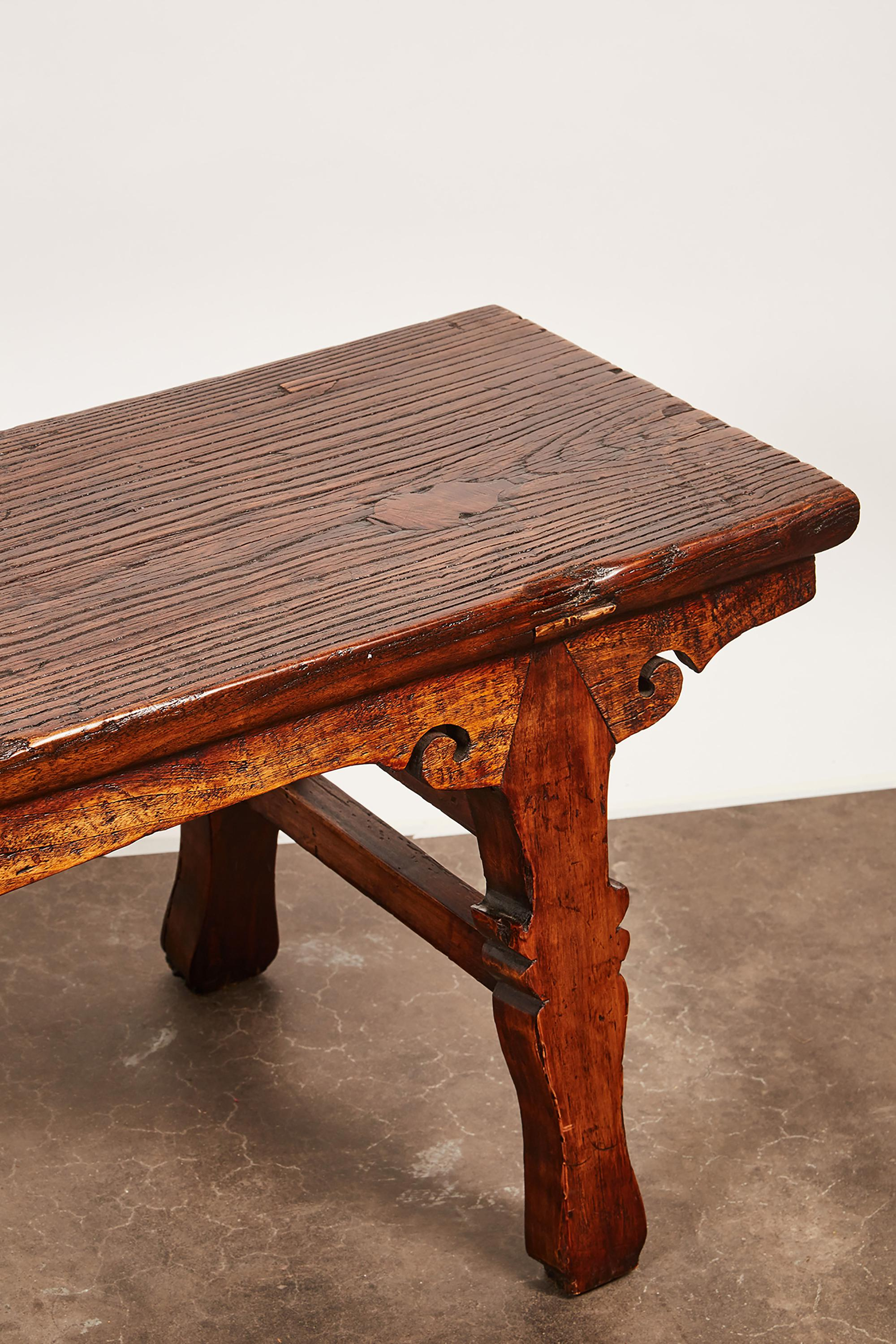 18th Century Chinese Low Sword Leg Bench/Table   Image 6 Of 8