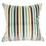 Image of Silk Velvet Stripe Pillows - A Pair