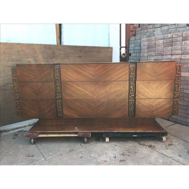 United Furniture Vintage 1970s Brutalist Dresser - Image 2 of 5