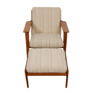 Hans Wegner For Getama Lounge Chair & Ottoman