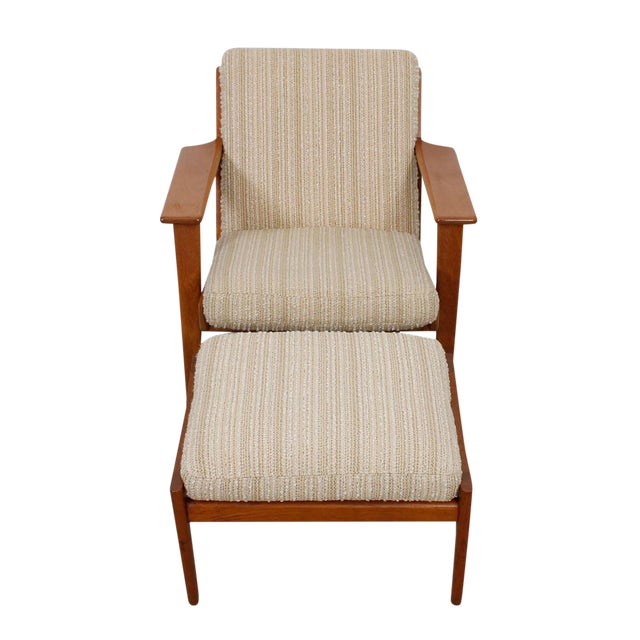 Hans Wegner For Getama Lounge Chair & Ottoman - Image 1 of 9