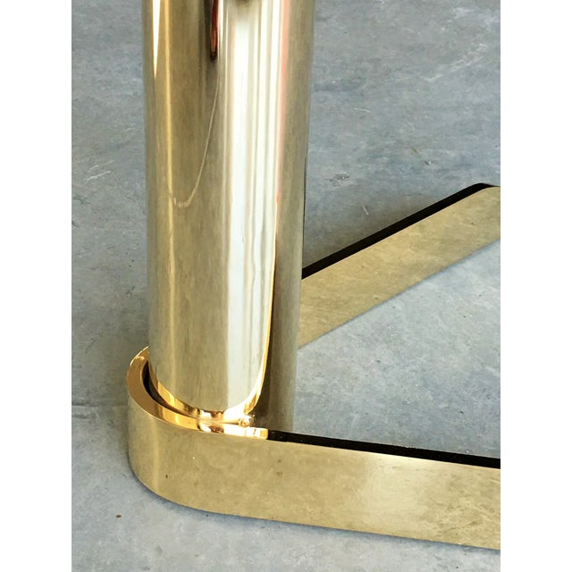 MCM Brass & Glass Side Tables by Pace - A Pair - Image 2 of 6