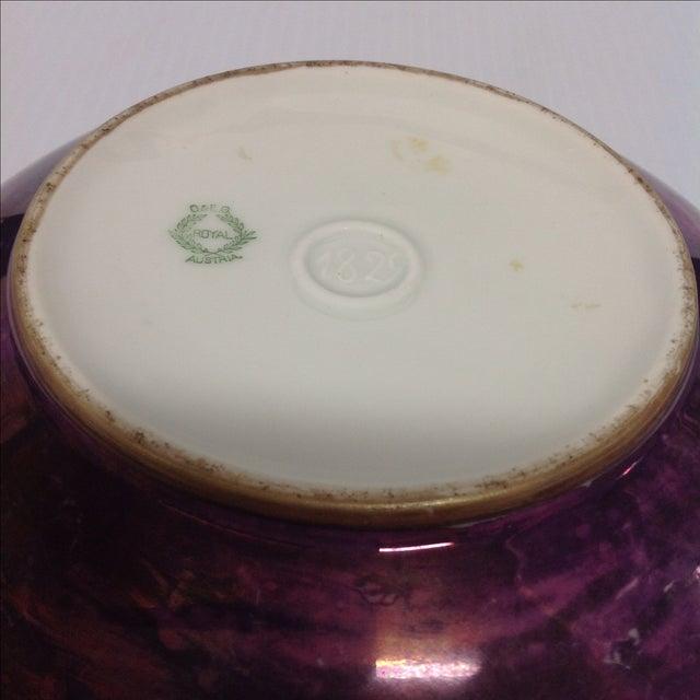 O&E G Royal Austria Iridescent Ceramic Bowl, 1829 - Image 4 of 6