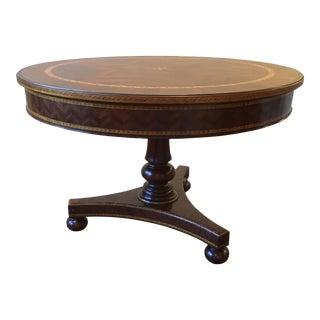 Alfonso Marina Hand Crafted Mahogany Marquetry Table