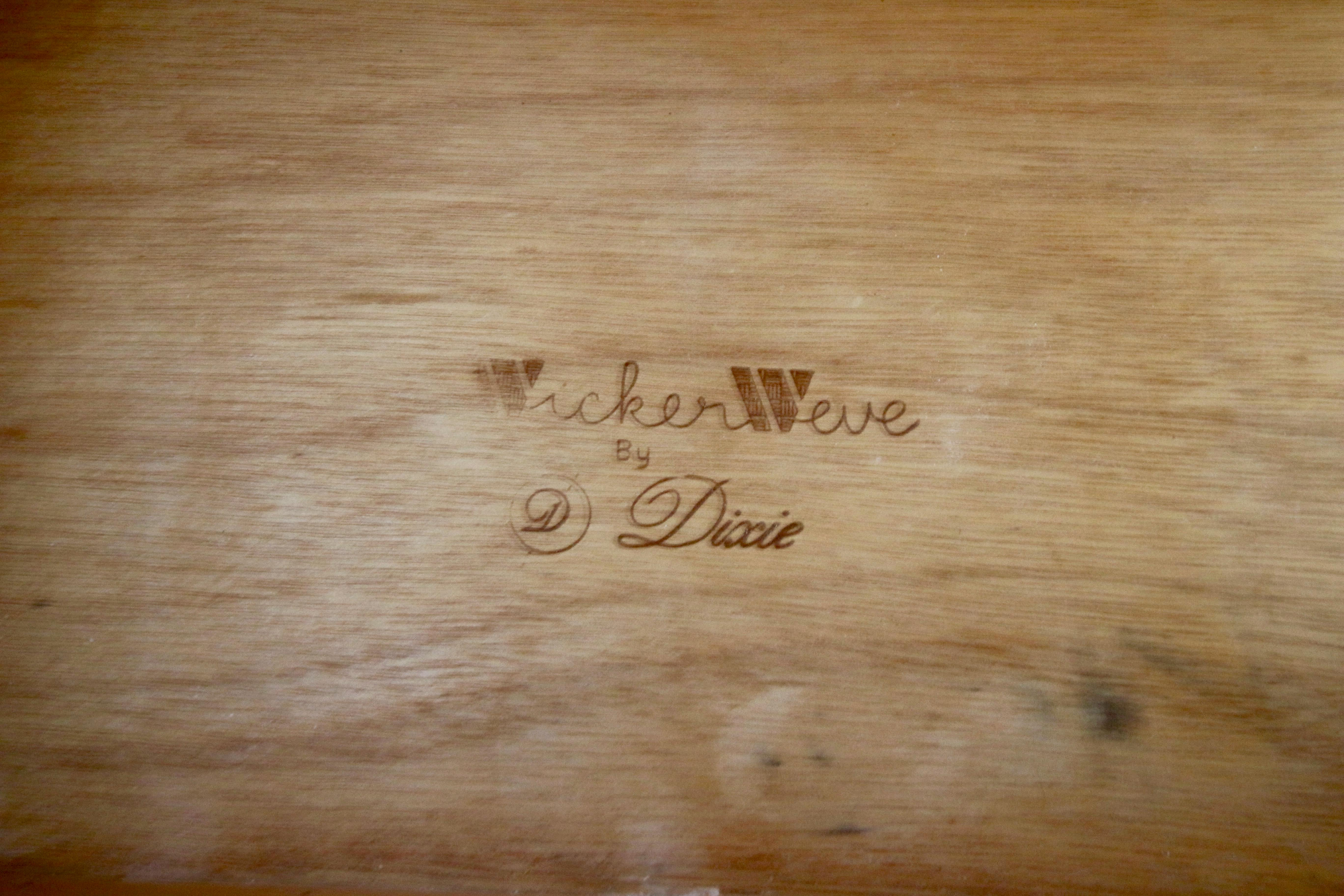 Dixie Wicker Weve Campaign Side Table Vintage   Image 5 Of 5