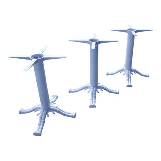 Cast Metal Faux Bamboo Table Bases - Set of 3