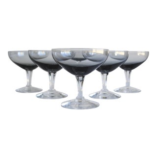 Vintage Champagne Coupes - Set of 6