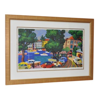 'The Riviera II' Framed Serigraph