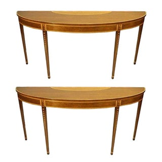 Kittinger Mahogany Console Tables - A Pair
