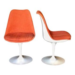 Pair of Saarinen Orange Swivel Chairs, 1960s
