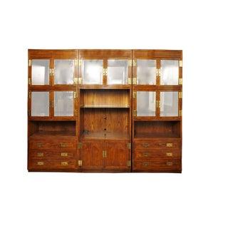 Henredon Scene 1 Campaign Cabinets - Set of 3