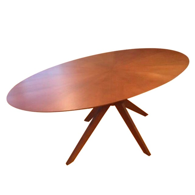 Oval Starburst Dining Room Table Chairish